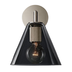 Бра rh utilitaire funnel shade single sconce - фото 727748