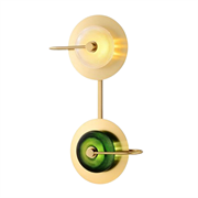 Бра green disk double
