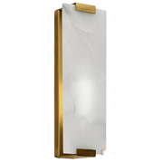 Бра marble rectangle wall lamp brass